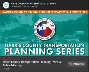 An example of an invitation on Facebook. Posted by Hollaway Environmental + Communications Services